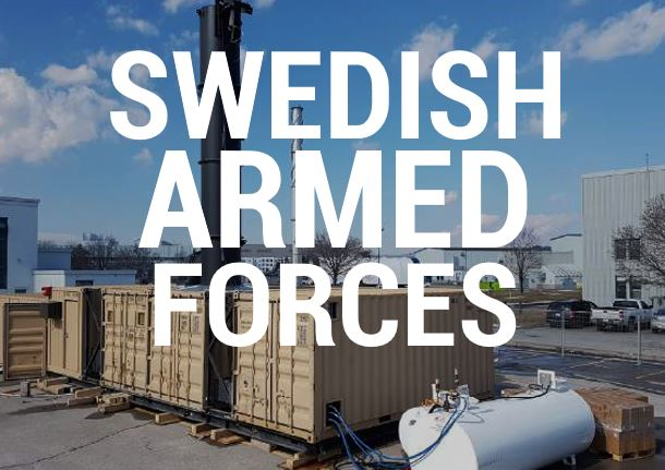 Eco Waste Solutions waste to energy Swedish Armed Forces
