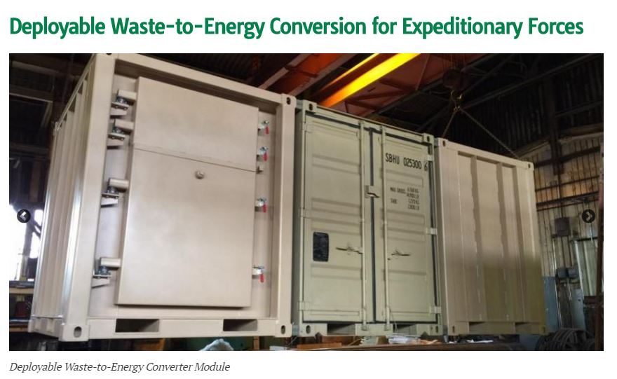 Deployable waste-to-energy