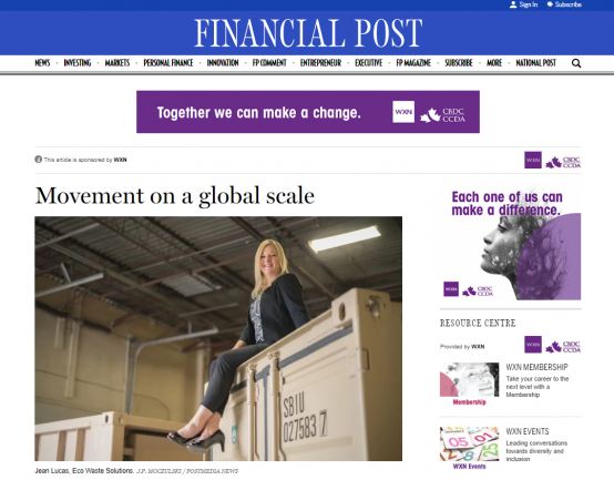 Jean Lucas in the Financial Post
